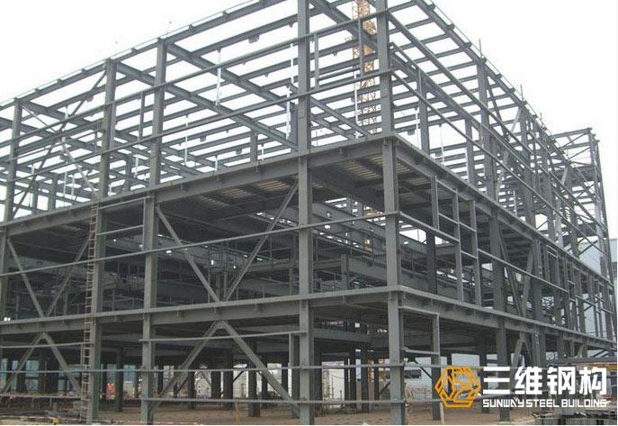 三维钢构承接大型设备框架钢结构加工