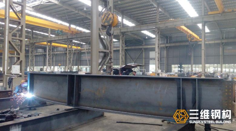 出口毛里求斯弧形钢结构加工