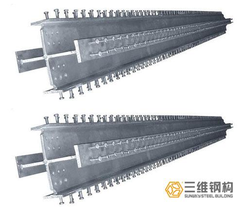 三维十字形钢柱加工成品防腐措施