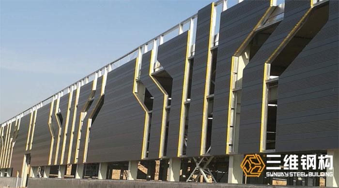 三维钢结构厂房案例-济南迈克阀科技有限公司加工装配车间