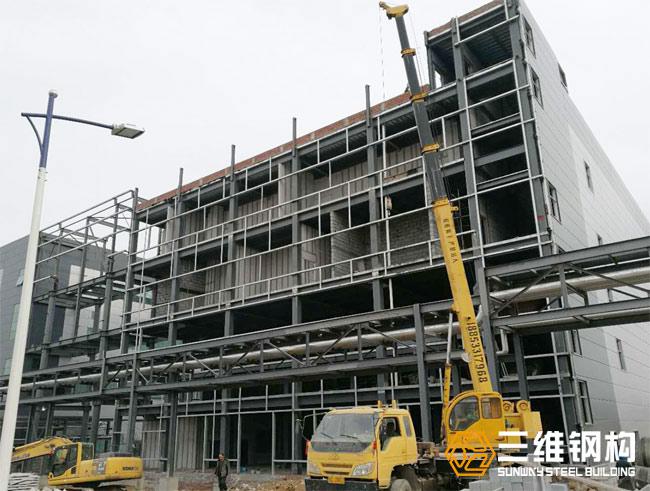 瑞阳制药原料药高架立体库及连廊工程案例图1