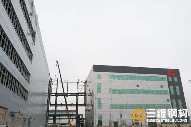 瑞阳制药原料药高架立体库及连廊工程案例图3