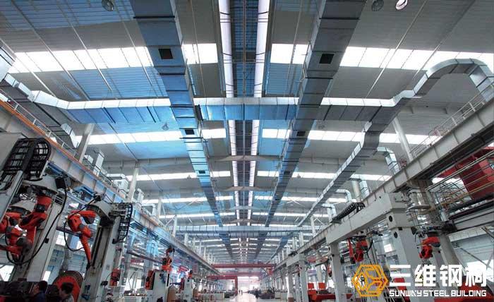 鲁南装备轻钢结构刮板机车间内部结构图示