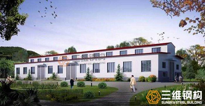 钢结构厂房,三维钢构