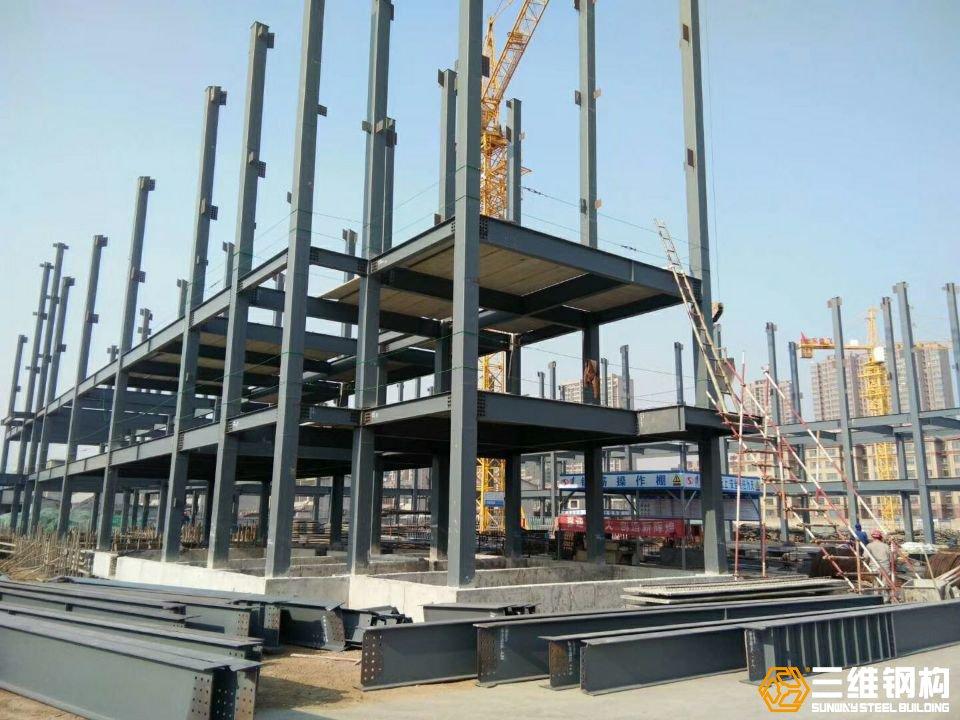 山东三维钢结构公司建造的上海舜元科创园钢结构工程