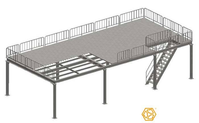 钢结构平台设计图纸