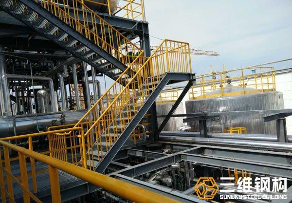 化工行业钢结构平台加工