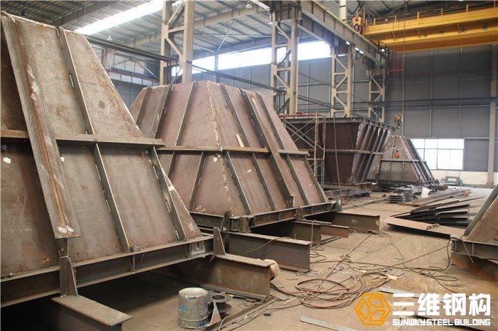 砂石料仓工程(钢结构料仓)