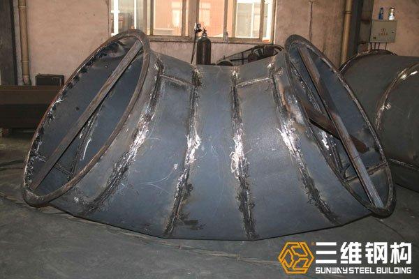 巴西干法选煤风选系统非标异形钢构件加工图1