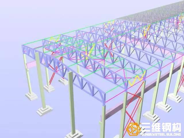 钢结构厂房图纸计算量