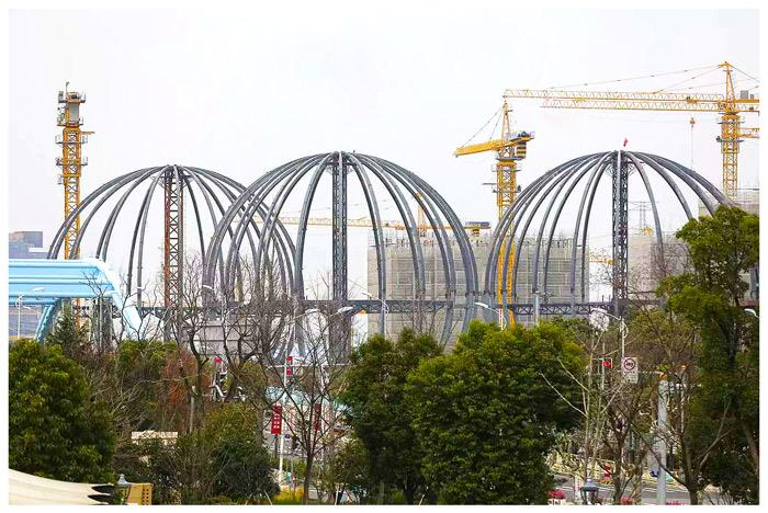 钢结构球幕体验馆